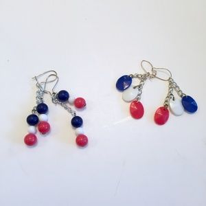 Vintage 4th of July Dangle Earrings